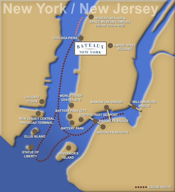 Bateaux New York Route